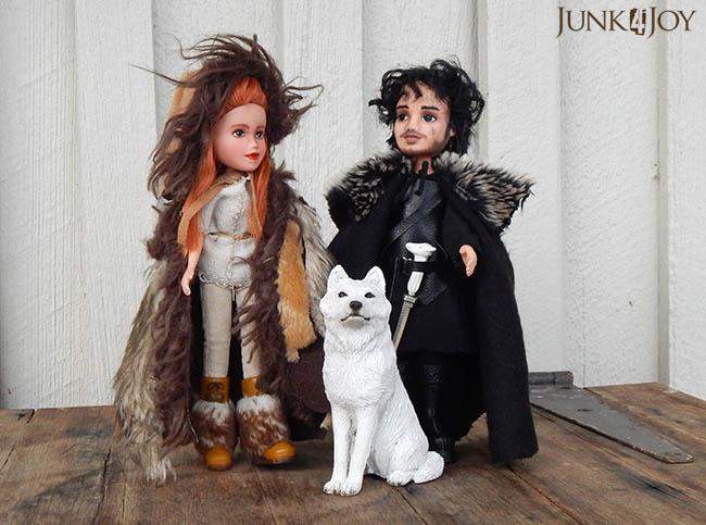Jon, Ygritte, Ghost